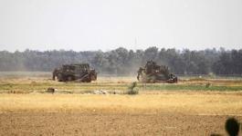 توغل آليات الاحتلال شرق دير البلح