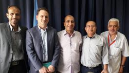 كرينبول يلتقى رؤوساء اللجان الشعبيةفي غزّة