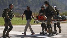 شاهد بالفيديو: لحظة إجلاء الإسرائيلييْن المصابين برصاص القناصة على حدود غزّة