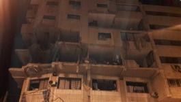 إصابات بانهيار أجزاء من مبنى دمرّه الاحتلال خلال التصعيد الأخير بغزّة