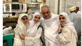 شاهدوا: روجينا وأشرف زكى يؤديان مناسك العمرة