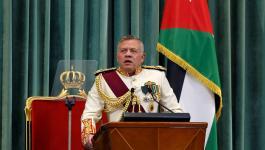 ملك الأردن يُؤكّد على ضرورة إقامة دولة فلسطينية تعيش بأمن وسلام