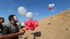 جيش الاحتلال يكشف عن كيفية رده على إطلاق البالونات الحارقة من غزّة