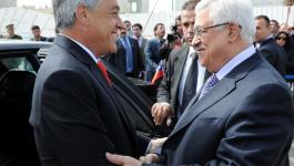 رئيس جمهورية تشيلي مع الرئيس عباس صورة ارشيفية