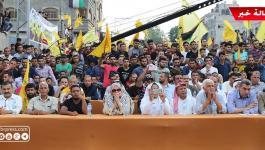 شاهد بالفيديو والصور: الآلاف يُحيون ذكرى عودة الرئيس الراحل ياسر عرفات إلى غزّة