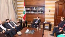 وفد من حماس يبحث مع الحريري تداعيات قرار وزارة العمل اللبنانية