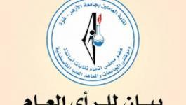 بيان صادر عنمجلس نقابة العاملين في جامعة الأزهر