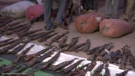 ضبط كميات كبيرة من الأسلحة والمخدرات في السودان