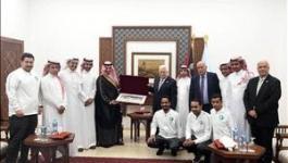 هذا ما قاله الرئيس خلال استقباله بعثة المنتخب السعودي برام الله!