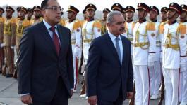 اشتية يصل القاهرة