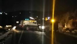 شاهد بالفيديو والصور: الاحتلال يُغلق مفترق