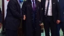 شاهد: نقابة المحامين الفلسطينيين تُكرم رئيس مجلس الأمة الكويتي في القاهرة