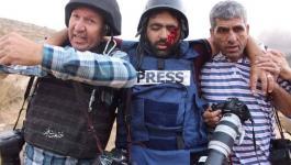 مسيرة طلابية في جنين رفضاً لجرائم الاحتلال بحق الصحفيين