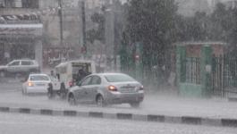 إصابة 3 مواطنين بحادث سير في البريج وفتح شارع بحر دير البلح بسبب حالة مد وجزر