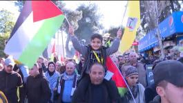 شاهد: عرض عسكري لحركة فتح في رام الله لإحياء ذكرى انطلاق الثورة الفلسطينية