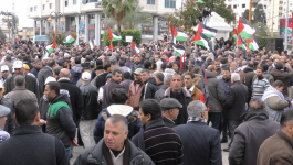 وقفة في غزّة لدعم الرئيس عباس في كلمته المقررة بمجلس الأمن