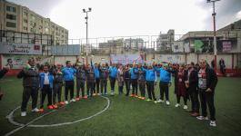 شاهد: مباراة كرة قدم بين قادة الفصائل في غزة