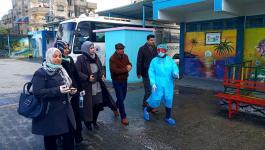 بالصور: لجنة الطوارئ بمخيم النصيرات تتفقد عدد من المؤسسات