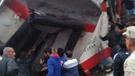 شاهد: إصابات إثر تصادم قطارى ركاب بخط الصعيد بين إمبابة ورمسيس بمصر