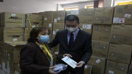 الصين تدعم وزارة الصحة الفلسطينية