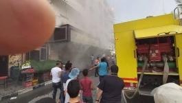 محدث بالفيديو والصور: اندلاع حريق في مخبز اليازجي بتل الهوا غرب مدينة غزة
