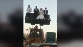 بالفيديو: مصر زفة غريبة من نوعها في زمن فيروس كورونا