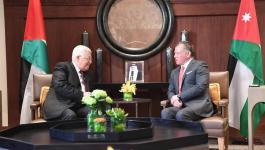 الرئيس عباس والعاهل الاردني