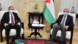 تفاصيل لقاء اشتية مع سفير جمهورية نيكاراغوا لدى فلسطين برام الله