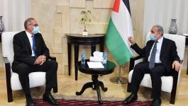اشتيّة يلتقي برئيس البعثةالأوروبية عقب انتهاء مساندتها للشرطة الفلسطينية