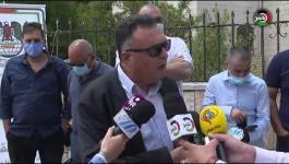 رام الله: وقفة منددة باستهداف الاحتلال لنقابة الصحفيين ونقيبها