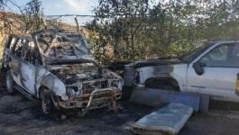 مستوطنون يحرقون 13 مركبة في القدس