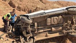 إصابة 6 مواطنين إثر حادث سير شمال أريحا