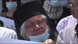 اعتصام أمام مقر ممثلية ألمانيا في رام الله للمطالبة بالإفراج عن منسق حركة المقاطعة