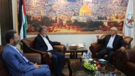النخالة يستقبل أمين عام التجمع العربي والإسلامي لدعم خيار المقاومة