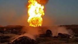 انفجار أنبوب الغاز جنوب العراق