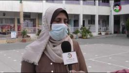 عدسة وكالة خبر ترصد استئناف الدراسة في غزة
