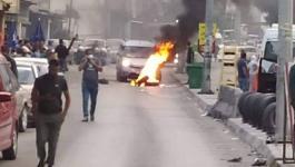 شاهد: إغلاق شارع القدس بمخيم بلاطة وكتائب الأقصى تُطالب بحماية الأمعري