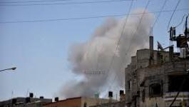 دخان شرق غزة