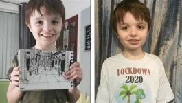 طفل مصاب بالتوحـُّد يبدع في الرسم