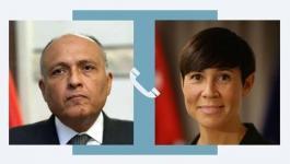 وزير الخارجية المصري يُناقش مع نظيرته النرويجية آخر مستجدات الساحة الفلسطينية