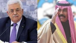 اتصال هاتفي بين الرئيس عباس وأمير دولة الكويت.jpg
