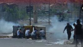 اندلاع المواجهات بين المواطنين وقوات الاحتلال في بيت لحم