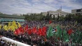 الكتل الطلابية لجامعة بيرزيت تُنظم مظاهرة منددة باعتقال عشرات من الطلبة