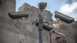 شبان يحرقون كاميرات الاحتلال بالقدس