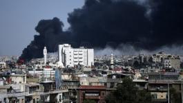 حريق جنوب دمشق