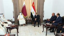 الرئيس المصري وأمير قطر.