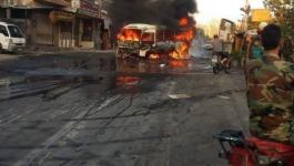 إصابات في تفجير حافلة عسكرية بالعاصمة دمشق