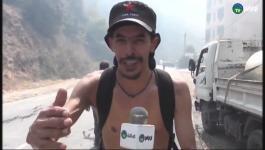 شاهد: فيديو حرق جمال بن اسماعيل كامل يشعل تيزي وزو