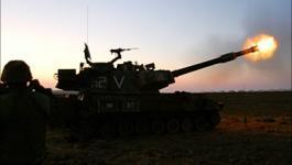 مدفعية الاحتلال تقصف أراضي المواطنين شرق البريج