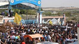 بالفيديو والصور: قطار المصالحة ينطلق من رام الله إلى غزة بترحيب شعبي واسع